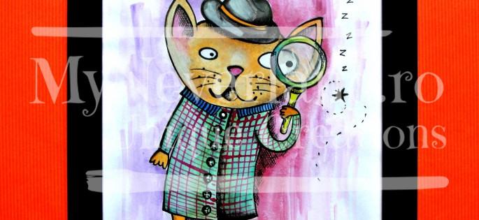 """Ilustratie """"Curious Cat"""""""